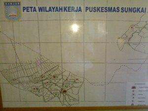 Peta Wilayah Kerja Puskesmas Sungkai